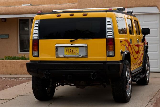 Pryce's Yellow Hummer 'PLAYUH'