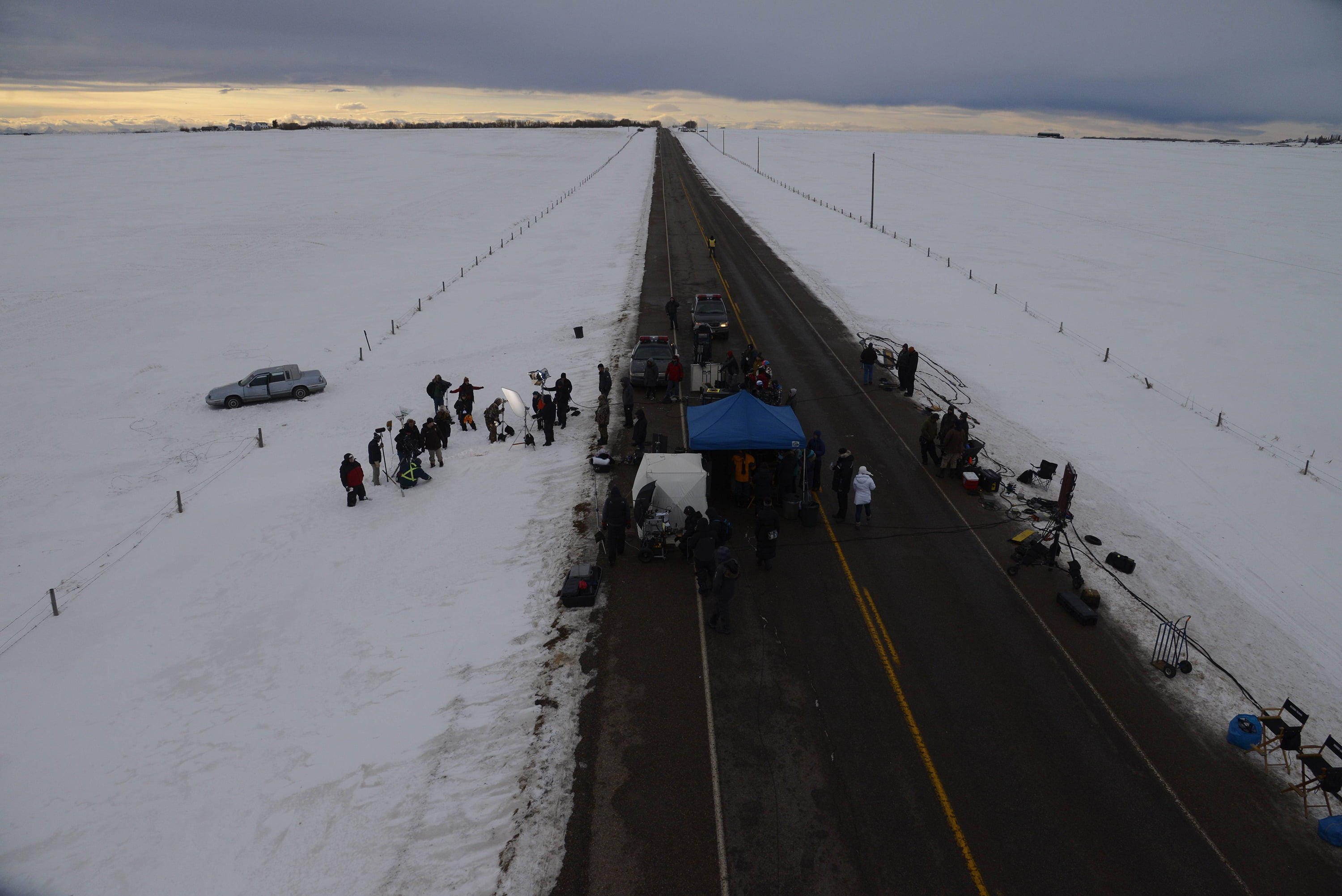 FARGO - Pictured: Behind the scenes. CR: Chris Large/FX
