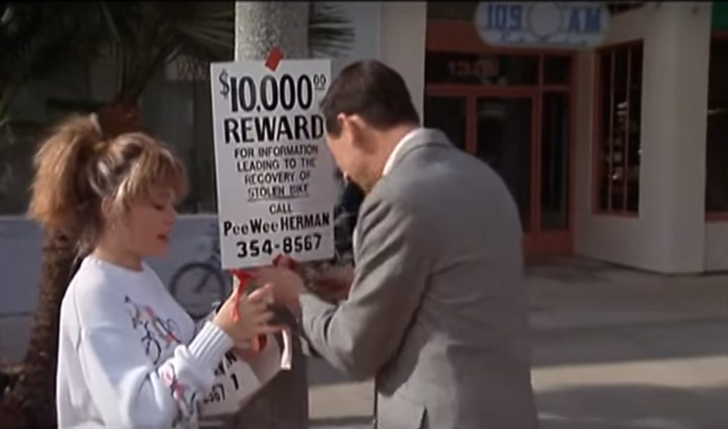 pee-wees-big-adventure-filming-locations-dottie-bike-reward-sign