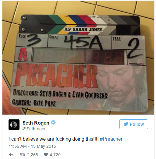 preacher-filming-locations-seth-rogen-tweet